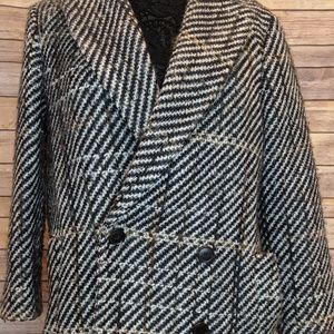 Theory Graphic Tweed Wool Jacket - S